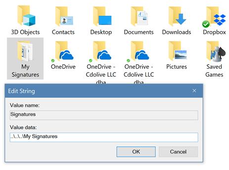 Multiple Profiles and Separate Signature Files