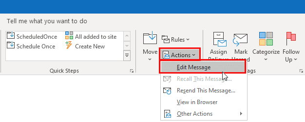 Resize images in an Outlook email