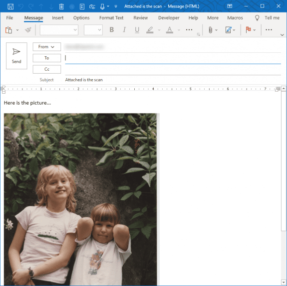 scan to email using vba
