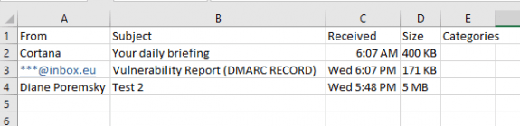 paste into excel to get count