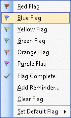 Outlook 2003's color flags