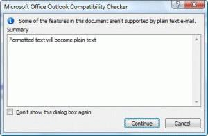 Compatibility Checker Dialog