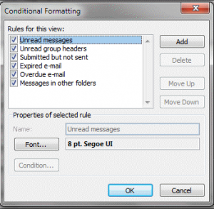 Conditional formatting rules