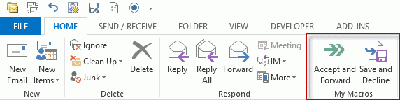 Accept Or Decline A Meeting Request Then Forward Copy It
