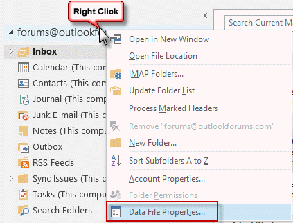 Data File Properties