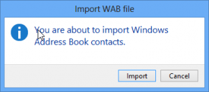 Import WAB into Windows Contacts