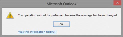 Message was change error