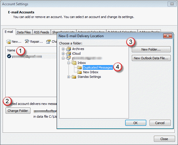 outlook is downloading duplicate emails from a pop3 account