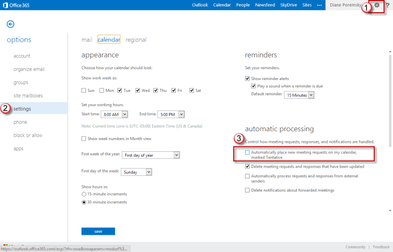Disable the ability to create tentative appointments