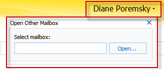 Open other user's folder dialog