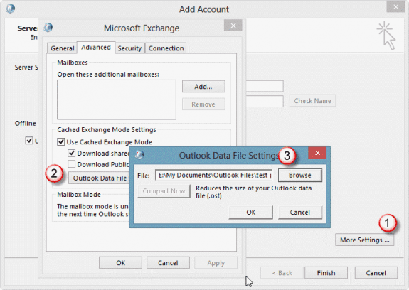move ost in Outlook 2013