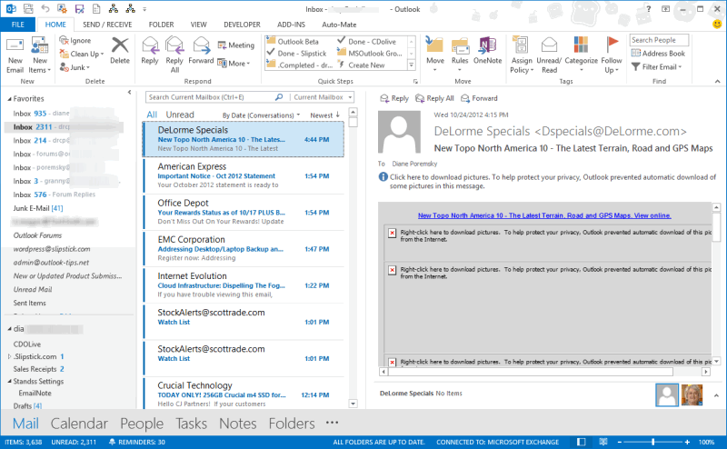 outlook 2013 office theme not saving