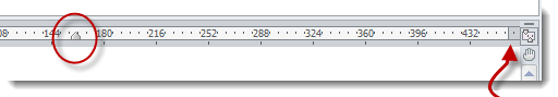Use ruler to check margins