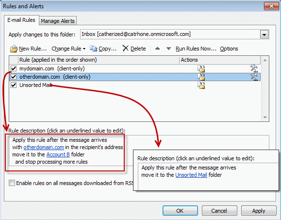 Avoid duplicate messages caused by Outlook's Rules Wizard