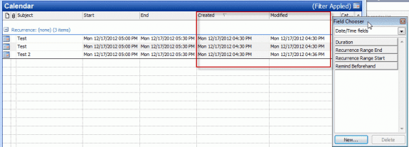 Created date in table view